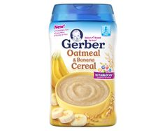 GERBER® Grain & Fruit Cereal – Oatmeal & Banana