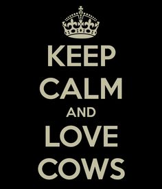 KEEP CALM AND LOVE COWS - KEEP CALM AND CARRY ON Image Generator - brought to you by the Ministry of Information