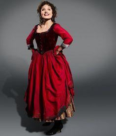 Victorian//Villager//OLIVER Red NANCY DRESS costume all ages