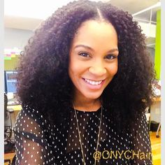We just have to post this!  Stunning #ONYCBeauty rocking our famous Kinky 3B3C curls.  Don't forget our Storewide #hair sale ENDS today at 11:59 pm EST! PLUS all regular free shipping items over $350 will be upgraded to express shipping. Discount CODE: ONYCLOVE  Shop this look >>> http://bit.ly/1q7Igip