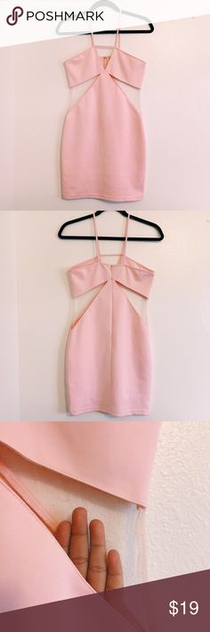 """Tobi """"cut out"""" Dress Approx 15"""" armpit to armpit. Approx 28"""" in length from chest line to bottom. 13"""" across on narrowest part of waist. Very elastic and formfitting. Tobi Dresses Mini"""