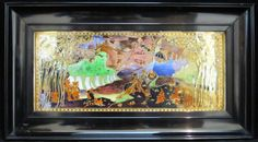 Wedgwood Fairyland Lustre Plaque 'Picnic by the River' (United Kingdom)