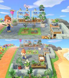 My new gardening workshop! Animal Crossing 3ds, Animal Crossing Wild World, Animal Crossing Qr Codes Clothes, Animal Crossing Pocket Camp, Animal Games, My Animal, Ac New Leaf, Motifs Animal, Garden Animals
