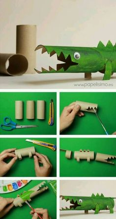 Toilet Paper Roll Crafts - Get creative! These toilet paper roll crafts are a great way to reuse these often forgotten paper products. You can use toilet paper rolls for anything! creative DIY toilet paper roll crafts are fun and easy to make. Kids Crafts, Animal Crafts For Kids, Diy For Kids, Diy And Crafts, Paper Animal Crafts, Wood Crafts, Paper Animals, Craft Projects For Kids, Craft Ideas
