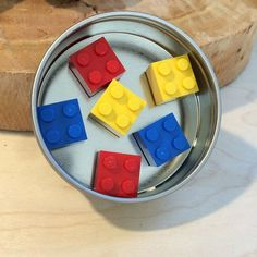 LEGO® blocks Magnet set ~ Red Magnets ~ Yellow Magnets ~ Blue Magnets ~ Fun magnets ~ Fun Birthday Gifts for Lego Lovers ~ Geek Presents ~ exclusively at http://brickandbutton.etsy.com