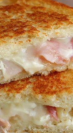 PB&P Sandwiches (aka Pear Brie Prosciutto Grilled Cheese)