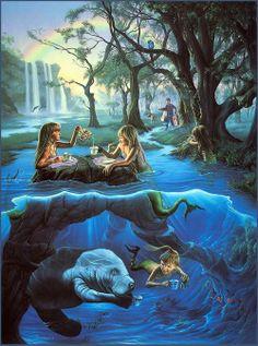 ♥ Jim Warren,Mermaid's Tea Party