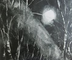 Original 10x12 Moonlight Shadow Landscape 10x12