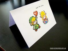 Close Encounters: Crochet Creations by Danni Close: Pixel Art Valentines Day Card Tutorial | Legend of Zelda