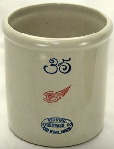 Limited Edition Red Wing Pottery Miniature 35 Gallon Crock