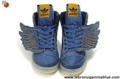 Discount Adidas X Jeremy Scott Wings Dark Blue Denim Shoes Shoes Shop