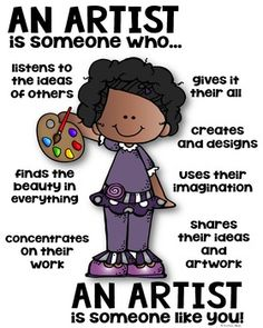 Artist Poster [someone who] by Kaitlynn Albani Community Helpers Lesson Plan, Community Helpers Activities, Kindergarten Science, Preschool Learning Activities, Space Activities, Anti Bullying Activities, Art Room Posters, Art Classroom Management, Essential Oils For Pregnancy
