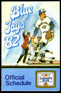 1982 TORONTO BLUE JAYS LABATTS BLUE BASEBALL POCKET SCHEDULE FREE SHIPPING