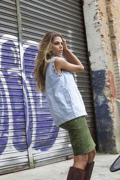 colete e jaqueta jeans | 5th avenue claro | coleteria in the city