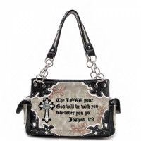 Concealed Carry Western Cowgirl Bible Verse Cross Bag