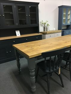 One Of Our 7u0027 Rustic Plank Tables With A Painted Base. We Love The