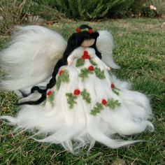 Holly Berry Ethereal Winter Angel Christmas Tree Topper by Nushkie, $92.00