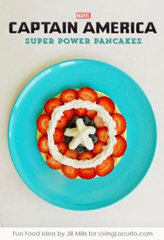 Captain America Super Power Pancakes - Kitchen Fun With My 3 Sons