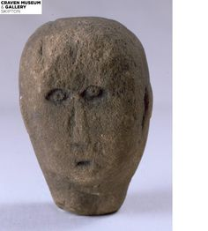 A #Celtic #head from our #collection here at Craven Museum and Gallery.
