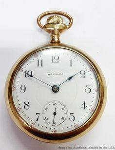 Waltham Massive 17J Antique 1883 Model Strong Running Mens Pocket Watch 18S  #Waltham