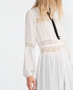 ZARA - COLLECTION AW15 - EMBROIDERED TUNIC DRESS