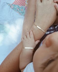 Mama and Baby Bracelet Set Baby Bracelet Skinny by pixleypressed