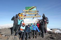 Yesterday at approximately local time the team reached the summit of Africas highest mountain. An awesome effort taking just over 7 hours to ascend to the roof of Africa! Mount Kilimanjaro, Mount Rushmore, 7 Hours, Worldwide Travel, Get Outdoors, Get Outside, Trekking, Adventure Travel, Effort