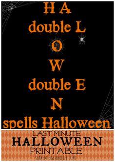 Last Minute Halloween Printable!!