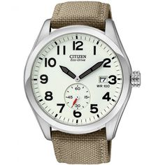 Citizen Men's Beige Canvas Strap Sport Watch BV1080-18A