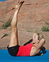 Pilates Cross-training for Climbers Double Straight Leg Stretch Purpose: Strengthens the Core Begin by lying on your back. Eric Hörst's Training For Climbing