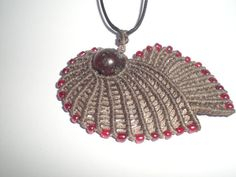 Macrame necklace. Necklace for winter. by asmina on Etsy