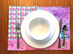 Purple Placemats, White Placemats, Fabric Placemats, Fabric Coasters, Placemat Sets, Fabric Cards, Wedding Shower Gifts, Custom Mats, Dining Decor
