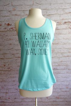P. Sherman, Finding Nemo tank top, finding nemo shirt, disney pixar shirt, Finding nemo, P. Sherman by rachelwalter on Etsy (null)