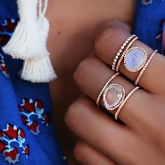 Luna sky moon stone ring.  white gold for me.