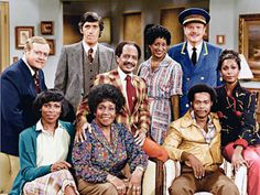 The Jeffersons (TV show) Franklin Cover, Paul Benedict, Sherman Hemsley, Marla Gibbs, Ned Wertimer and Berlinda Tolbert (top row, from left); Roxie Roker, Isabel Sanford and Mike Evans (bottom row, from left). - Love, love, love this show!