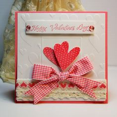 Handmade Card Greeting Card Happy Valentine's by CardInspired