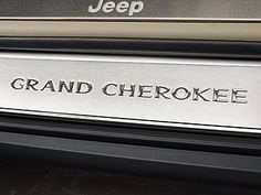 jeep grand cherokee stainless steel door entry guards grand cherokee logo on fronts only complete