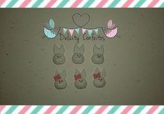 Coelho Páscoa Confeito açúcar Enfeite para doces, cupcakes, Bolos, Alfajores.. http://www.elo7.com.br/confeitos-acucar-pascoa/dp/660F63