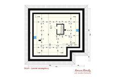 Projekt domu Neptun IV , wizualizacja 6 House Plans, Floor Plans, Diagram, How To Plan, Home, Projects, Ideas, Houses, Log Projects