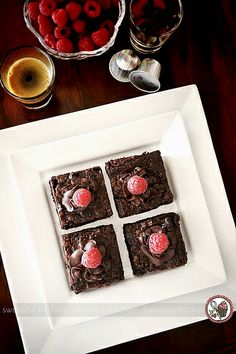 Created for entry into Nespresso's Australia's best chocolate raspberry brownie recipe competition.  Sweetest Kitchen...   Yummy recipe Check out this awesome Chocolate eBook I found : http://livinghealthywithchocolate.com/delectable-dessert-recipes/?hop=astr15