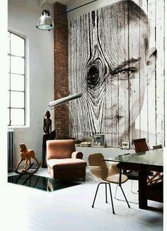 woodboy, collage over wood planks 280x 320 cms, artwork antonio mora