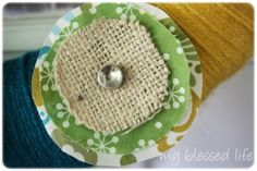 These two embellishments are from my burlap and jute twine