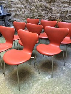 8 Arne Jacobsen Fritz Hansen Chairs