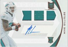 2013 MIAMI DOLPHINS MIKE GILLISLEE 3 CARD LOT (JERSEY, AUTOS, PARALLELS)