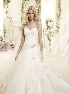 colet bridal 2015 style 26 strapless a line wedding dress draped bodice -- Colet 2015 Wedding Dresses Stunning Wedding Dresses, 2015 Wedding Dresses, Beautiful Gowns, Bridal Dresses, Bridal 2015, Bridesmaid Dresses With Sleeves, Designer Wedding Gowns, Bridal Collection, Salons