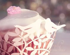 Love Birds Silhouette Wedding Cupcake Wrapper, 10 pcs