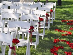 Chair Flowers and Rose Petals Ceremony @ Vintners Inn