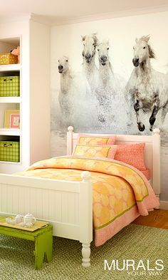 Murals for girls' rooms from Murals Your Way. Great ideas for girls of all ages!
