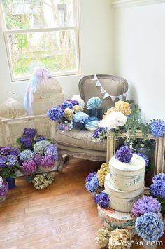 ゼクシィ掲載 / アジサイ / ディスプレイ / ウエルカム / 装花 / ウェディング / 結婚式 / wedding / オリジナルウェディング / プティラブーシュカ / トキメクウェディング