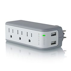 Belkin Mini Surge Protector with USB Charger - Use it at home or take it with you on the go.